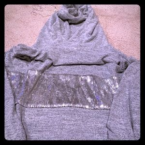 Gap large super soft sequin sweatshirt